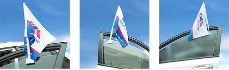 cờ treo xe logo công ty